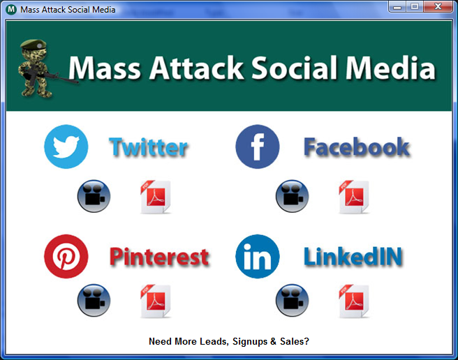 Mass Attack Social Media Software